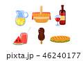 食 料理 食べ物のイラスト 46240177