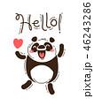 ぱんだ パンダ HELLOのイラスト 46243286