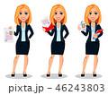 キャリアウーマン ビジネスウーマン 女性実業家のイラスト 46243803
