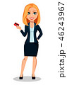 キャリアウーマン ビジネスウーマン 女性実業家のイラスト 46243967