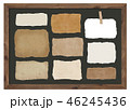 紙 黒板 フレームのイラスト 46245436