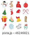 クリスマス アイコン セットのイラスト 46246821