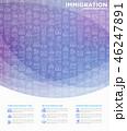 概念 イコン イミグレーションのイラスト 46247891