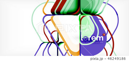 Colorful trendy geometric shapes background 46249186