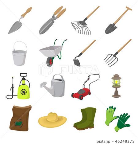 Garden cartoon icons set 46249275