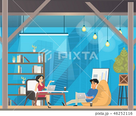 Freelancer Work in Casual Openspace Coworking 46252116