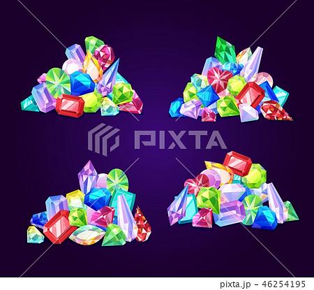 Gemstone crystals and jewel gem stones jewelry 46254195