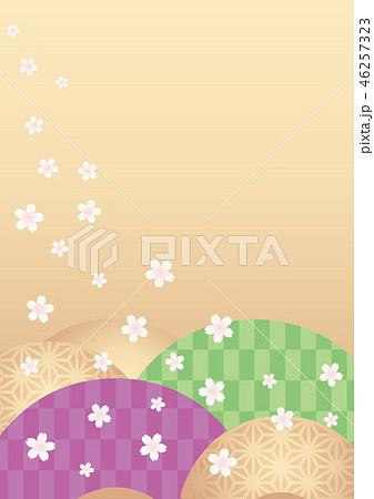 背景素材-サクラ(扇) 46257323