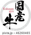 国産牛 牛 筆文字のイラスト 46260465