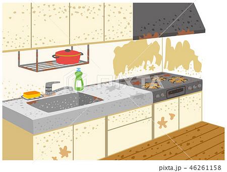 汚れたキッチン 46261158