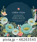 フローラル フラワー 花のイラスト 46263545