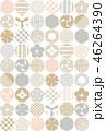 和風 パターン 柄のイラスト 46264390