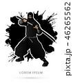 バックグラウンド 黒色 黒のイラスト 46265562