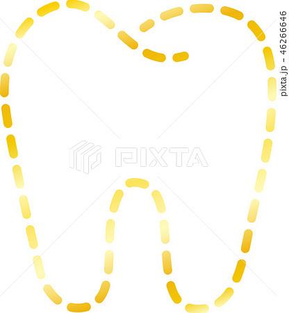 歯 歯科医 デンタルケア 線画 点線 イラスト 46266646