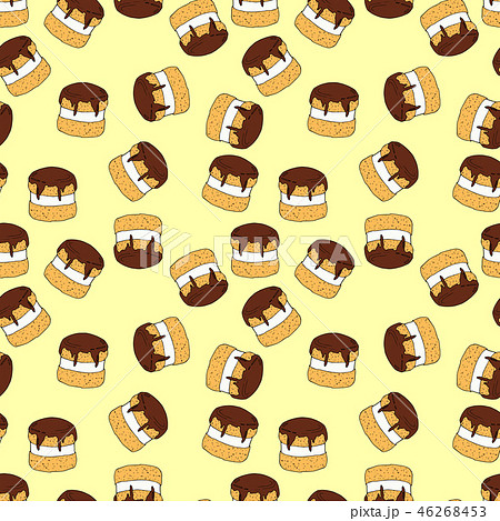 Seamless vector pattern of cakes  46268453
