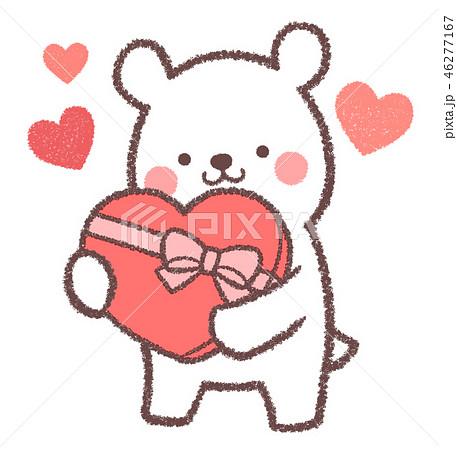 シロクマバレンタインのイラスト素材 46277167 Pixta