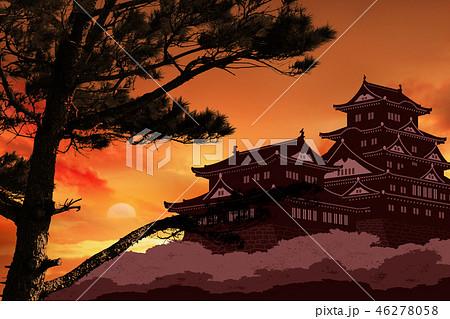 松の木と城イメージ 46278058