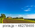 夏 田園風景 畑の写真 46278400