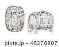 ベクトル 木製 木造のイラスト 46278807