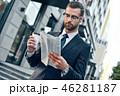 ビジネスマン 実業家 ニュースペーパーの写真 46281187