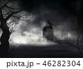 墓場 墓石 墓碑のイラスト 46282304