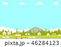 桜 春 コピースペースのイラスト 46284123