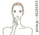 女性 スキンケア 美容のイラスト 46285953