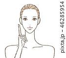 女性 スキンケア 美容のイラスト 46285954