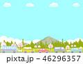 桜 春 渋滞のイラスト 46296357