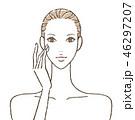 女性 スキンケア ビューティーのイラスト 46297207