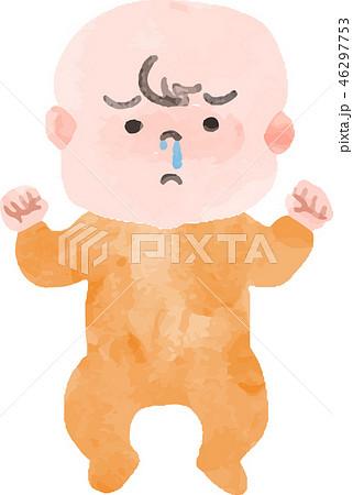 鼻水が出ている赤ちゃん 46297753