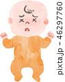 赤ちゃん 体調不良 風邪のイラスト 46297760