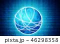 地球 グローバル サイバーのイラスト 46298358
