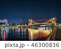 カップル 夜 ネオンの写真 46300836