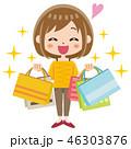 ショッピング 買い物 女性のイラスト 46303876