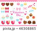 バレンタイン お菓子 ベクターのイラスト 46308865