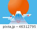 熨斗 富士山 和のイラスト 46312795