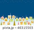 街並み クリスマス 星のイラスト 46315503