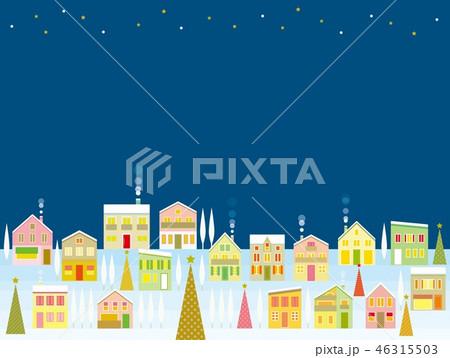 街並み クリスマス 星 46315503