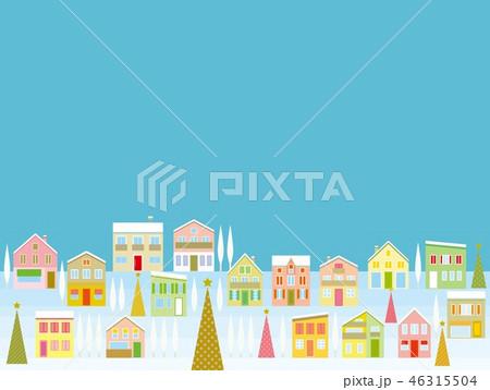 街並み クリスマス のイラスト素材 46315504 Pixta