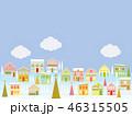 街並み クリスマス 雲のイラスト 46315505