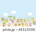 街並み 冬 雲のイラスト 46315506