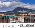 長崎 町並み 山の写真 46316506