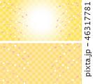 背景 花餅 市松模様のイラスト 46317781