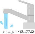 レバー式の蛇口から出る水 46317782