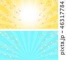 背景 花餅 正月飾りのイラスト 46317784