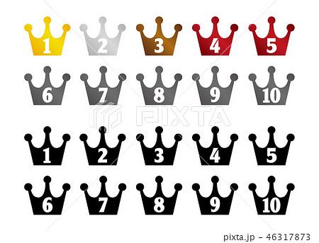ランキング・順位 王冠セット(1位~10位) / カラー&ブラック 46317873