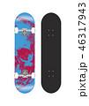 スケートボード テンプレートイラスト (背面グラフィックデザイン) 46317943