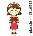 バレンタイン 人物 プレゼントのイラスト 46319548