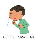 咳 風邪 インフルエンザのイラスト 46321103